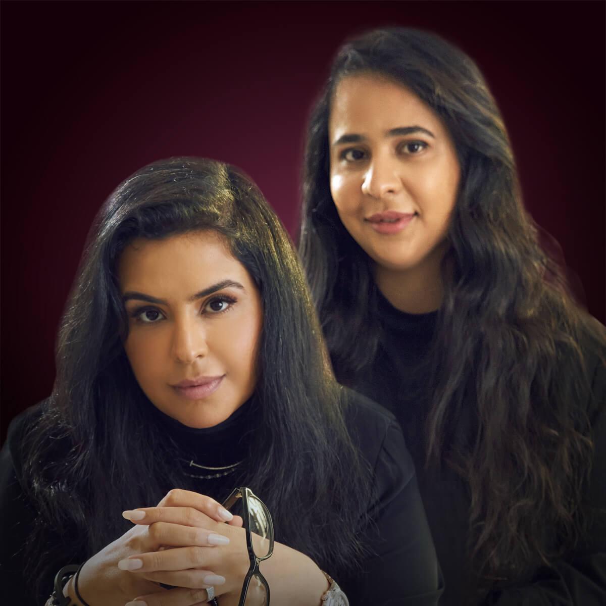 Noor Rashid and Haya Mohammed Al Khalifa